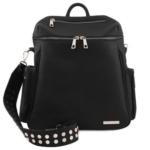 TL Bag Soft leather backpack for women Black TL141747