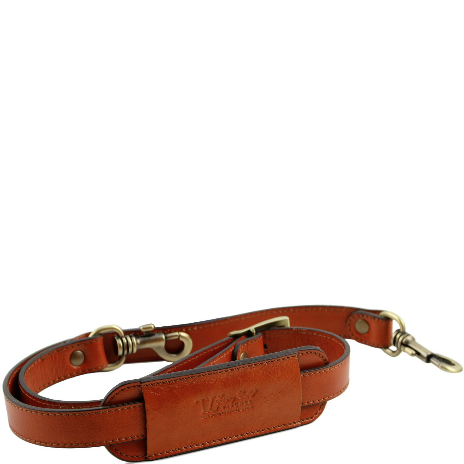 Abbildung von Adjustable leather shoulder strap Honey