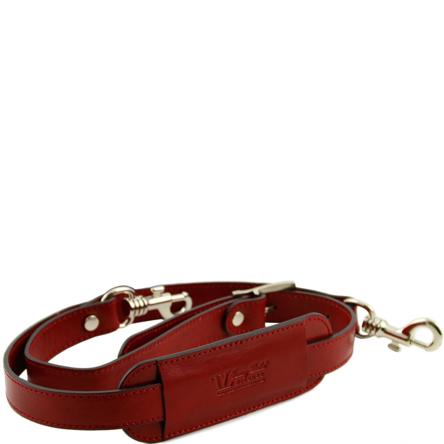 Abbildung von Adjustable leather shoulder strap Red