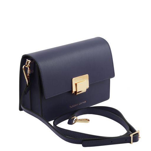 Adele Leather clutch Dark Blue TL141742