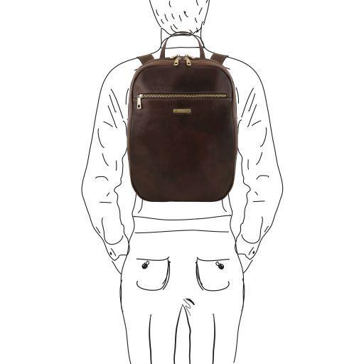 Osaka Zaino porta notebook in pelle Testa di Moro TL141711