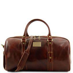 Francoforte Дорожная кожаная сумка weekender - Маленький размер Коричневый TL140935