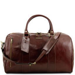TL Voyager Travel leather duffle bag - Large size Brown TL141794