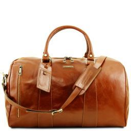 TL Voyager Travel leather duffle bag - Large size Honey TL141794