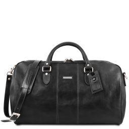 Lisbona Travel leather duffle bag - Large size Black TL141657