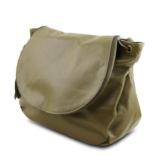 TL Bag Borsa morbida a tracolla con nappa Verde Oliva TL141110