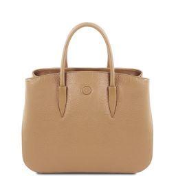 Camelia Leather handbag Champagne TL141728
