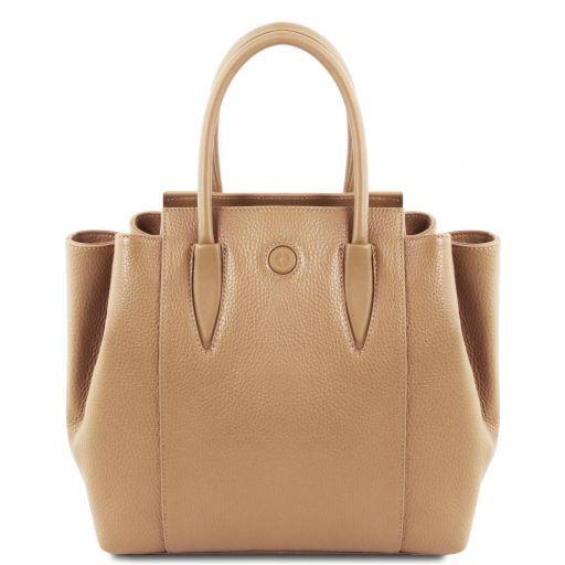 Tulipan Leather handbag Champagne TL141727