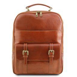Nagoya Leather laptop backpack Honey TL141857