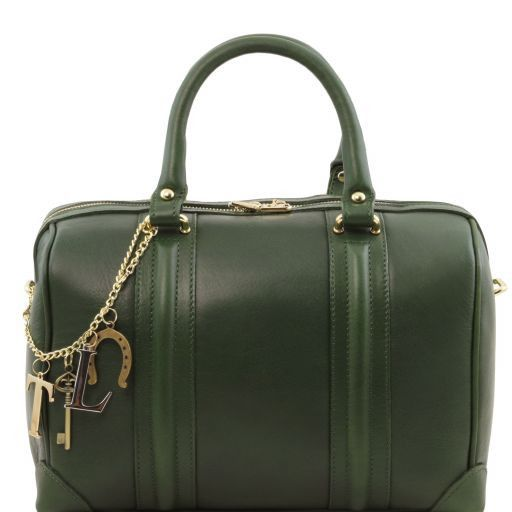 TL KeyLuck Bauletto in pelle morbida con accessori color oro Verde scuro TL141284