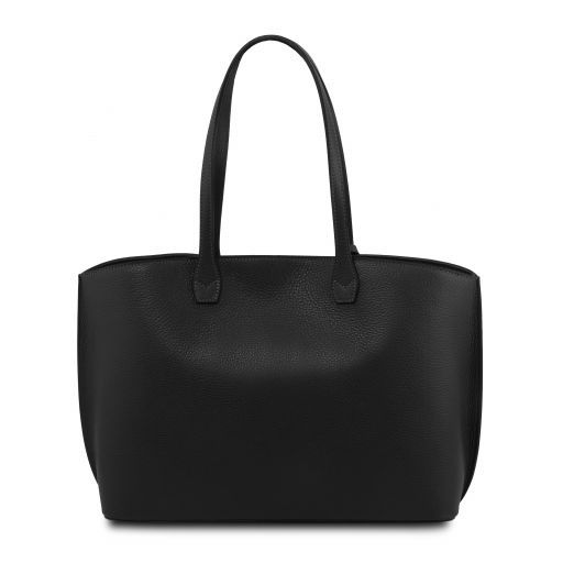 TL Bag Borsa shopping in pelle Nero TL141828