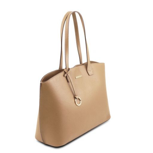 TL Bag Soft leather tote bag Champagne TL141828