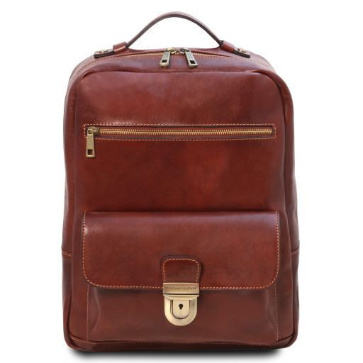 Kyoto Leather laptop backpack Коричневый TL141859