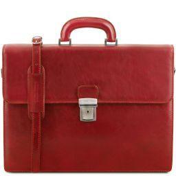 Parma Porta folios en piel con 2 compartimentos Rojo TL141350