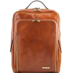 Bangkok Zaino porta notebook in pelle Miele TL141289