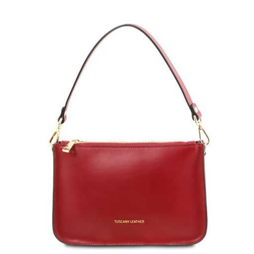 Cassandra Leather clutch handbag Red TL141870