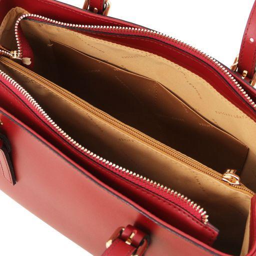 Aura Leather handbag Красный TL141434