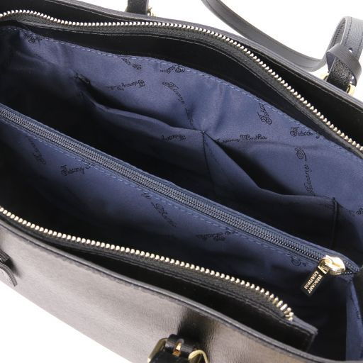 TL Bag Borsa a mano in pelle Saffiano Nero TL141518