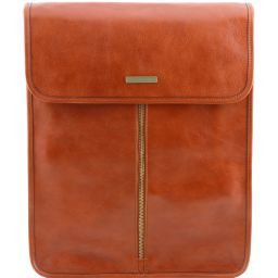 Exclusive leather shirt case Honey TL141307
