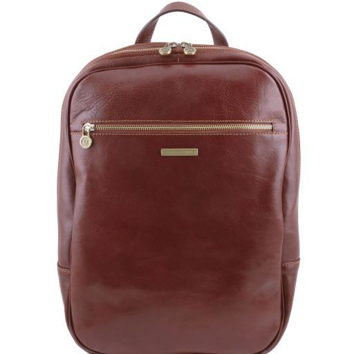 Osaka Zaino porta notebook in pelle Marrone TL141308