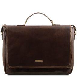 Padova Exclusive leather laptop case Dark Brown TL140891