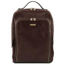 Bangkok Leather laptop backpack Dark Brown TL141793