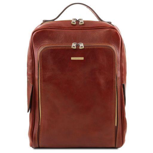 Bangkok Leather laptop backpack Brown TL141793