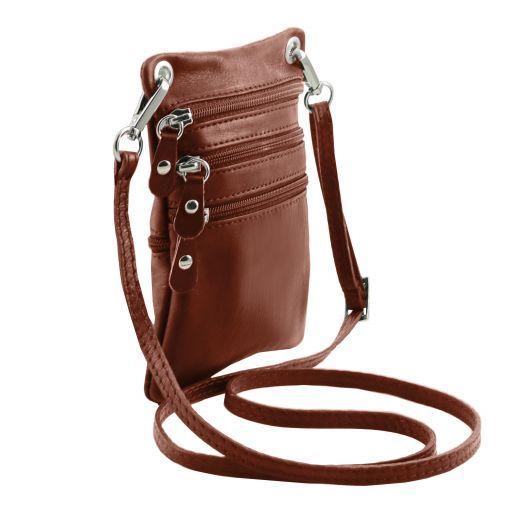 TL Bag Сумка-мини через плечо из мягкой кожи Коричневый TL141368