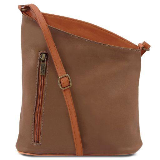 TL Bag Сумка-мини унисекс через плечо из мягкой кожи Темный серо-коричневый TL141111