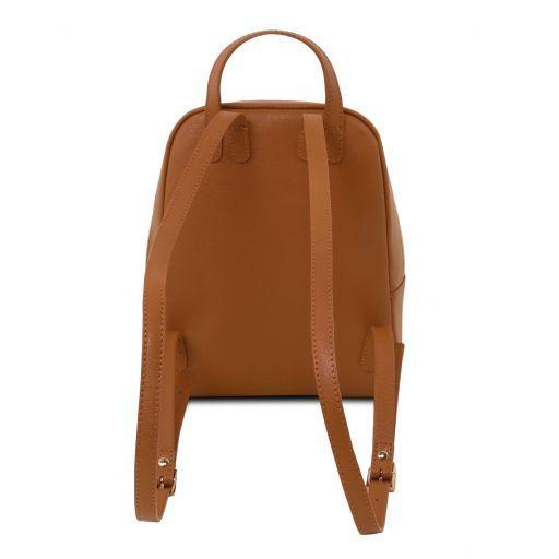 TL Bag Zaino piccolo in pelle Saffiano da donna Cognac TL141701