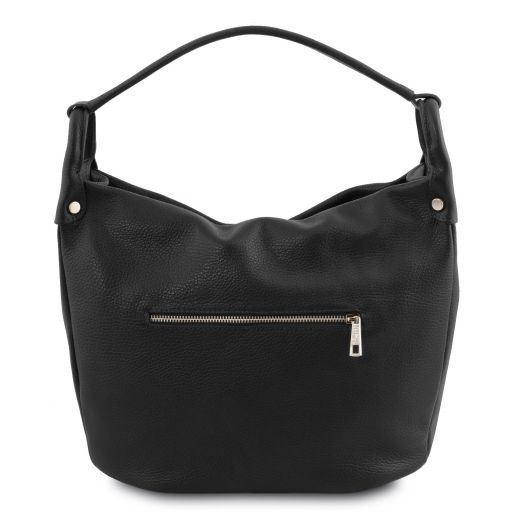TL Bag Borsa hobo in pelle morbida Nero TL141855