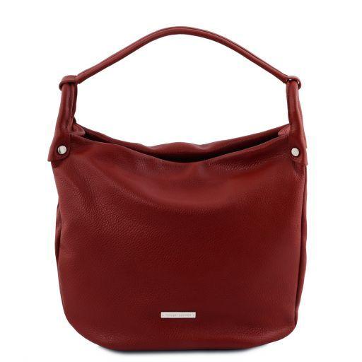TL Bag Beuteltasche aus weichem Leder Rot TL141855