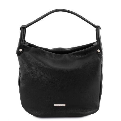 TL Bag Beuteltasche aus weichem Leder Schwarz TL141855