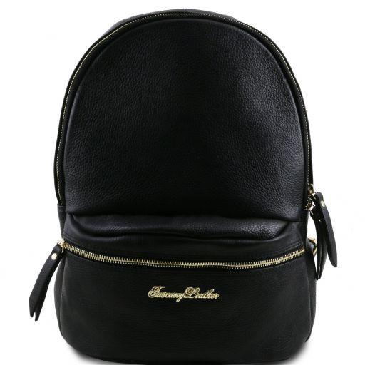TL Bag Nuovo Zaino donna in pelle morbida Nero TL141320