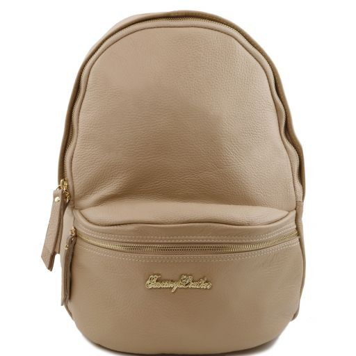 TL Bag Soft leather backpack for women Light Taupe TL141320