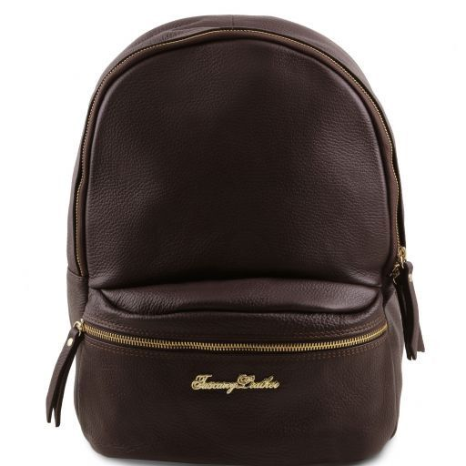 TL Bag Soft leather backpack for women Dark Brown TL141320