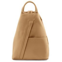 Shanghai Leather backpack Champagne TL141881