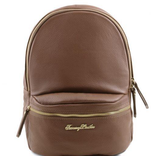 TL Bag Soft leather backpack for women Темный серо-коричневый TL141320
