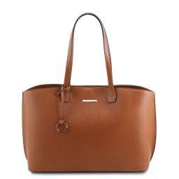TL Bag Borsa shopping in pelle Cognac TL141828