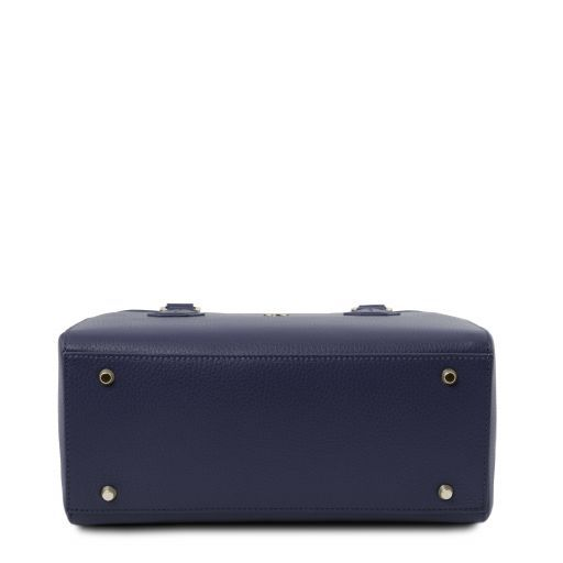 Fiordaliso Leather handbag Dark Blue TL141811