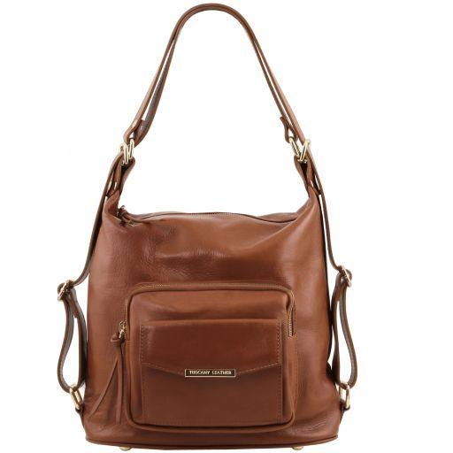 TL Bag Bolso de señora en piel convertible en mochila Canela TL141535