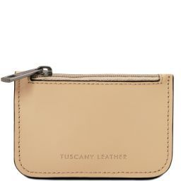 Leather key holder Champagne TL141671