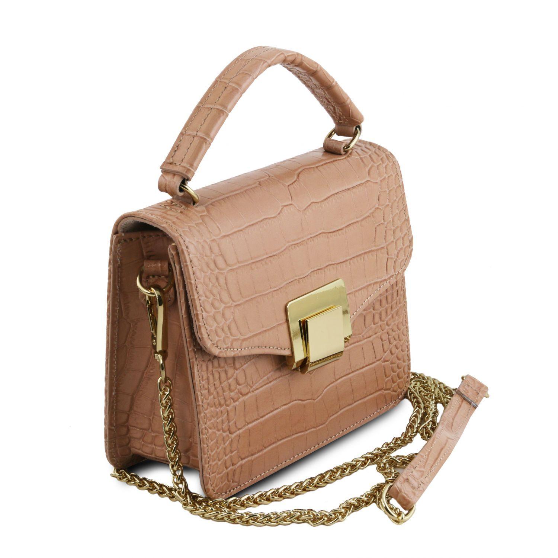 TL Bag Borsa a Mano in Pelle Morbida Trapuntata Nude TL142132