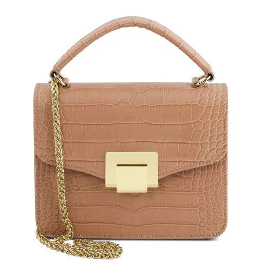 TL Bag Mini bolso en piel efecto coco Nude TL141890