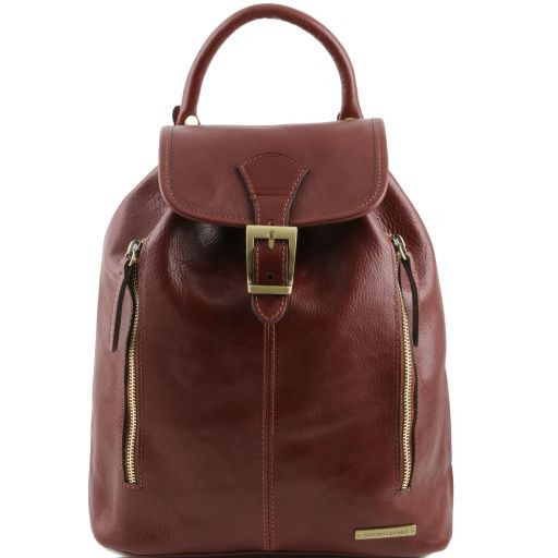 Jakarta Leather Backpack Brown TL141341