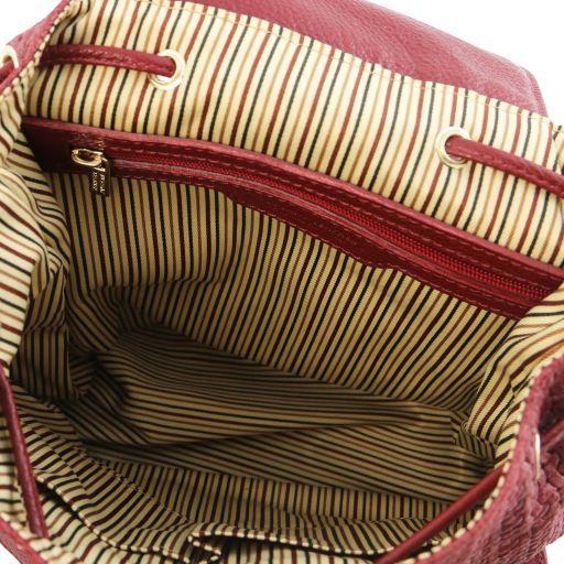 TL KeyLuck Zaino in pelle stampa intrecciata Rosso TL141886