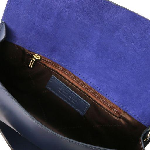 Sophia Leather clutch handbag Dark Blue TL141816