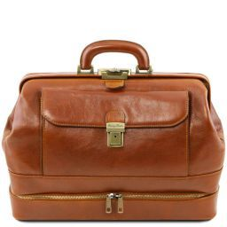 Giotto Exclusive double-bottom leather doctor bag Honey TL141297