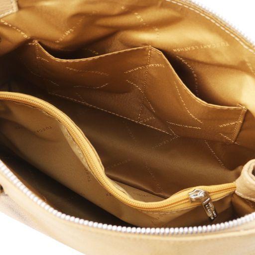 Lilia Leather handbag Champagne TL141876