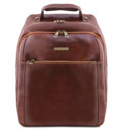 Phuket Zaino porta notebook in pelle 3 scomparti Marrone TL141402